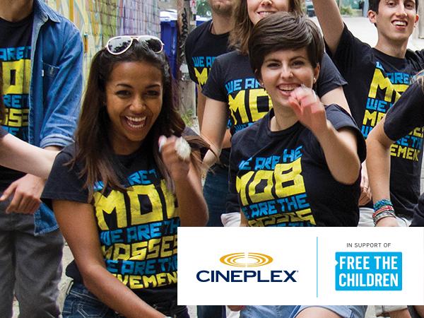 Free The Children & Cineplex Poster